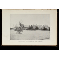 Grounds of the convalescent home in winter