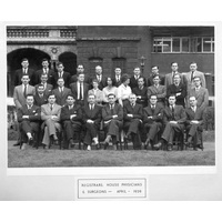 1959 April Registrars House Physicians & Surgeons Group with caption