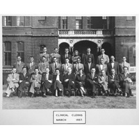 1957 March Clinical Clerks Group with caption