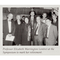 Professor Elizabeth Warrington (centre)