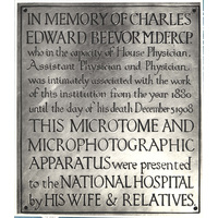 Plaque in memory of Charles Edward Beevor