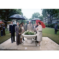 The unveiling of the Jubilee bowl. 1977