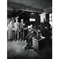 Mr Christopher Stone visits laboratory. 1936
