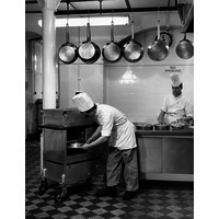 Catering staff at work. 1963