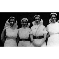 Nurses Wilkes, Marshall, Wallis, McGuire. Chandler Ward 1937