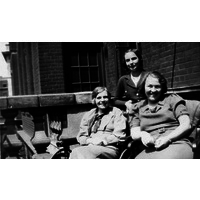 Nurses on Chandler Ward balcony 1937