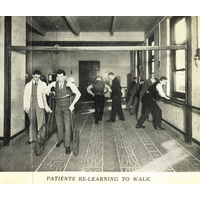 Press Cutting. Patients at the National re-learning to walk.